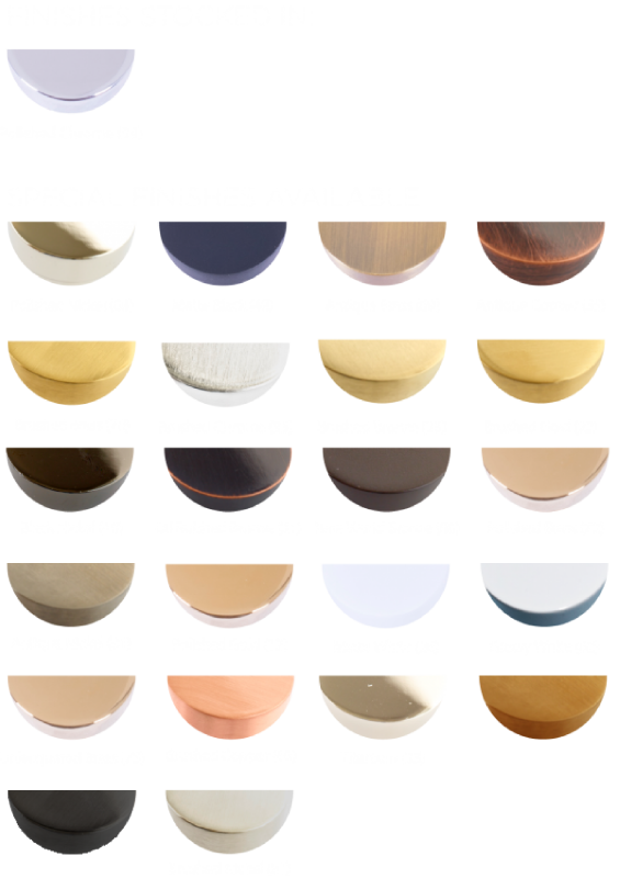 Available Finishes - Finishes Stocked 99