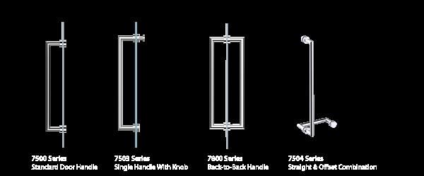 How To Order A Glass Door Handle Kartners Bathroom Accessories